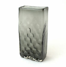 Whitefriars Glass Willow Textured Basket Weave Vase by Geoffrey Baxter No.9667