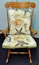 Catch Of The Day Over Sized Reversible Rocking Chair Cushion Set
