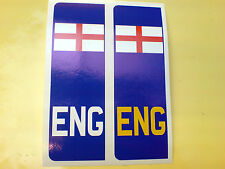 PLAQUE immatriculation Angleterre St George Europlate voiture Van Stickers Autocollants 2 hors 104mm
