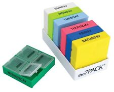 7 Day Daily Pill Organizer Sorter Color Coded Vitamin Dispense Organize 4 Dose