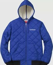 Supreme x Independent Quilted Nylon Jacket Royal Blue Size Large