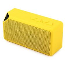 YELLOW Mini Speaker X3 Built-in mic Wireless Bluetooth 2.0 * sent from Europe
