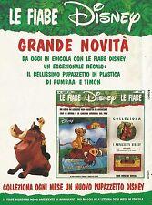 X7377 Il Re Leone - Fiabe Disney - Pubblicità 1995 - Vintage advertising