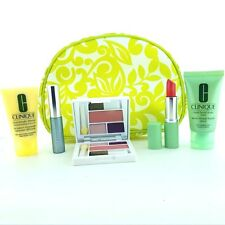 CLINIQUE 6 PIECE GIFT SET: w. COSMETIC BAG ~MAKEUP/SKINCARE-FREE SHIPPING