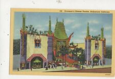 Graumans Chinese Theatre Hollywood Vintage USA Postcard 510a
