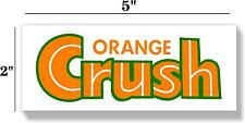 "5"" square ORANGE CRUSH SODA COCA COLA PEPSI COOLER POP MACHINE DECAL STICKER"