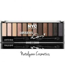 NYC EYESHADOW PALETTE LOVATICS BY DEMI LOVATO NATURAL  NEW + FREE P&P