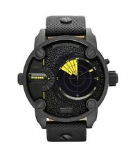 Diesel Men's Little Daddy DZ7292 Black Leather Quartz Watch - 2 YEARS WARRANTY
