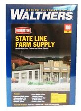 HO Scale Walthers Cornerstone 933-2912 State Line Farm Supply Building Kit