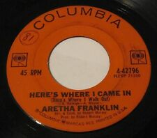 ARETHA FRANKLIN - SAY IT ISN'T SO/HERE'S WHERE I CAME IN 45 Columbia SOUL Sister