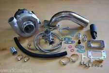 T3/T4 Hybrid Turbocharger Kit T3 T4 Turbo 3an ss oil, Downpipe, BOV, Stage 1