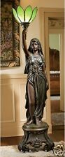 78' H Neoclassical Maiden of Light French Antique Replica Floor Lamp Sculpture