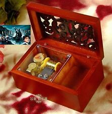 Wooden Rectangle Carving Jewelry Music Box: Harry Potter Hedwigs Theme