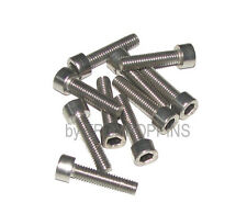 10-SS M6 X 25MM SH SOCKET ALLEN HEAD STAINLESS STEEL METRIC MACHINE SCREWS 6MM