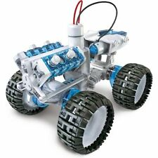 LUJII 4x4 Salt Water Engine Car Kit Kids Spy Robot DIY Toy Learning Model New