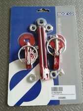 COPPIA GANCI FERMACOFANO SPARCO  SPARCO STEEL HOOKS SPARCO 01606R RED ALUMINIUM