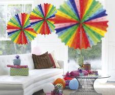 Multicolore Da Appendere A NIDO D'APE Partito Decorazione Ventilatore 45cm