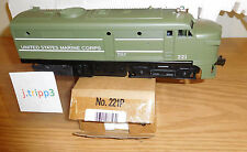 LIONEL 6-38357 U.S. MARINE CORPS 221P ALCO 'A' DIESEL ENGINE UNIT O GAUGE TRAIN
