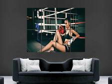Fille sexy hot Boxe Gym Fitness art mural large image Poster Géant Grand