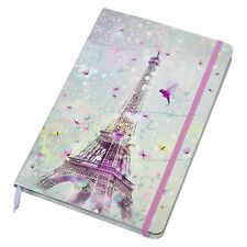 Eiffel Tower A5 Lined 192 Page Hardback Paper Journal Notebook Shabby Chic Gift
