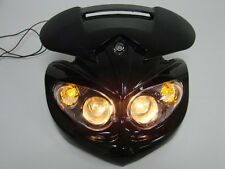 Black Motorcycle Head Light Dual Sport for Ducati Street Fighter Dirtbike Custom