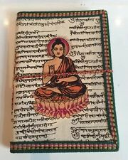 Recycled Large Diary Vegetable Dye Notebook Journal Diary Buddha Sanskrit