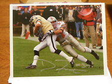 DUSTIN FOX SIGNED OHIO STATE BUCKEYES 8X10 VS PURDUE