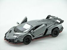 Kinsmart Lamborghini Veneno (Gray) 1:36 Die Cast Metal Collectable Car