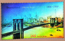 Rare Hologram/Holographic/3D Stamp Germany 2006 Brooklyn Bridge New York