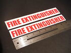 "Fire Extinguisher Decal Red Marine Boat Safety 9"" Stickers (Pair)"
