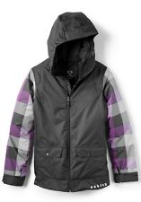 Women's Oakley Well Known Snow Ski Snowboard Jacket Black Plaid Size Medium M