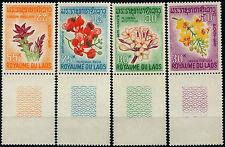 LAOS 1967  N°160 A 163** SERIE FLEURS ** / FLOWERS SET MNH