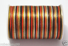 multicolor(F) 10yd Satin Rattail Cord 2mm nylon jewelry macrame kumihimo bead