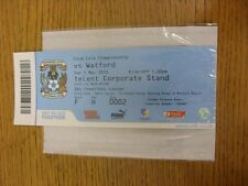 02/05/2010 BIGLIETTO: COVENTRY CITY V Watford (SKY Creations Lounge). se non precedentemente