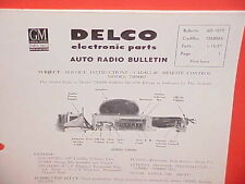 1957 CADILLAC FLEETWOOD 75 LIMOUSINE UNITED MOTORS DELCO GM RADIO SERVICE MANUAL