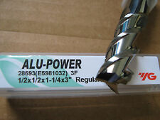"1/2""x1 1/4"" LOCx 3""OAL,ALU-POWER 3 Flute Carbide End Mill, YG-1 brand ""NEW"""