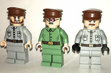 RARE LEGO PARTS ONLY - 3 RUSSIAN OFFICERS - ORIGINAL LEGO PARTS CUSTOM FIGURES