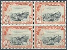 Swaziland 1956 Sc# 55 Asbestos mine Havelock Elizabeth GB colony block 4 MNH
