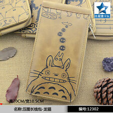 Ceative New Arrival: Anime My Neighbor Totoro Khaki PU Long Wallet/Purse