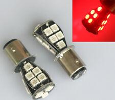 2x P21/5W 380 BAY15D LED 1157 18 SMD Canbus Lampe Standlicht Rücklicht Birne Rot