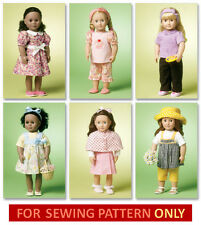 SEWING PATTERN! MAKE DOLL CLOTHES! FITS AMERICAN GIRL NICKI~LANIE~CHRISSA~SAIGE