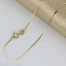 AU750 16INCH 18K Yellow Gold Necklace Snake Chain / 1.55g