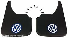 Universal Car Mudflaps Front Rear VW Volkswagen Blue Sharan Tiguan Logo Up Guard