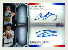 2011 BOWMAN STERLING CHRIS OKEY/TROY CONYERS RC BLACK REFRACTOR AUTO REDS #15/25