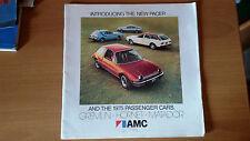 AMC RANGE 1975 CATALOGO DEPLIANT BROCHURE USA NOS