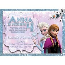 Frozen Theme Personalised Digital Invitation - Print At Home
