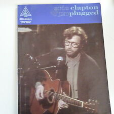songbook ERIC CLAPTON unplugged , recorded guitar version