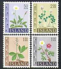 Iceland 1964 Wild Flowers/Buttercup/Clover/Plants/Nature 4v set (n38170)