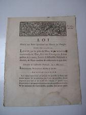 Loi relative aux rentes appartenant aux pauvres des paroisses 1791