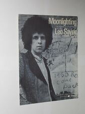 Leo Sayer Moonlighting Original Sheet Music 1975.